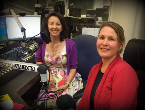 Ruth Copland in the studio with Jenni Ward