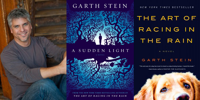 Garth Stein with two of his books