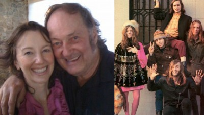 Left: Ruth Copland and Sam Andrew. Right: Big Brother and The Holding Company, photo by Linda McCartney
