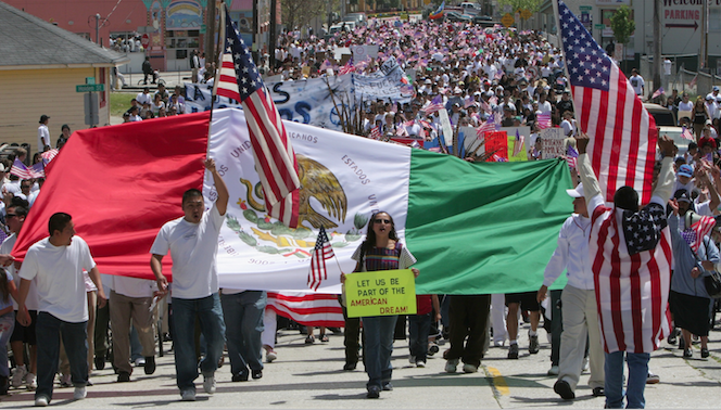 Immigration Support March, Santa Cruz, CA 2006.