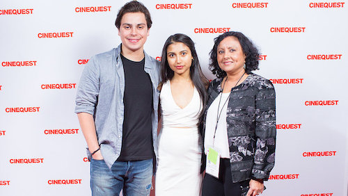 The Valley actors Jake T Austin, Agneetha Thacker