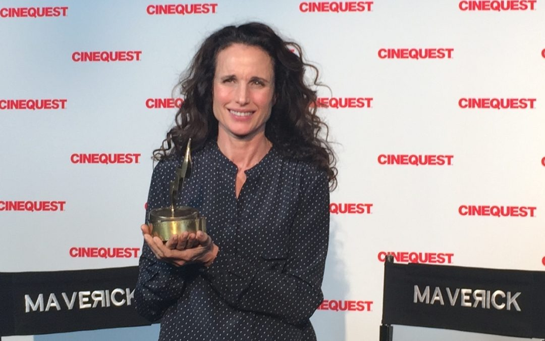 Andie MacDowell Filmed Interview, Cinequest Maverick Spirit Award Recipient